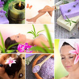 Spa, wellness and relax. Collection Royalty Free Stock Photo