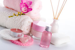 Spa and wellness setting Royalty Free Stock Photo