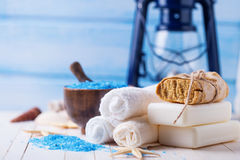 Spa and wellness setting royalty free stock image