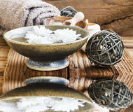 Spa and Wellness Setting Water Reflection stock photos