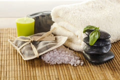 Spa  & wellness setup Royalty Free Stock Photography