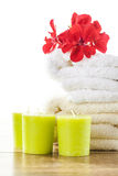 Spa  & wellness setup Royalty Free Stock Images