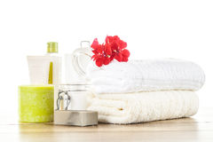 Spa  & wellness setup Royalty Free Stock Photo
