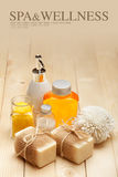 Spa and Wellness - Spa minerals Royalty Free Stock Photo