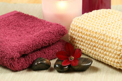 Spa and wellness therapy. Luxury spa therapy in maroon color. Relaxation moments Royalty Free Stock Image