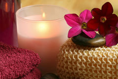 Spa and wellness therapy. In claret color. Relax moments Stock Photography