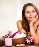 Spa Woman. Beautiful Spa Woman. Day Spa Royalty Free Stock Images
