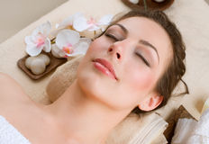 Spa Woman. In Beauty Salon Royalty Free Stock Images
