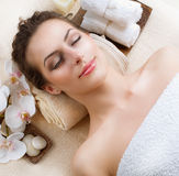 Spa Woman. In Beauty Salon Stock Photos