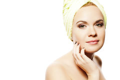 Spa Woman. Beautiful Girl After Bath Royalty Free Stock Photo