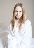 Spa Woman. Beautiful Girl After Bath Perfect Skin. Skincare. Young Skin Stock Photography