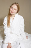 Spa Woman. Beautiful Girl After Bath Perfect Skin. Skincare. Young Skin Stock Images