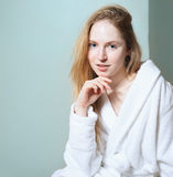 Spa Woman. Beautiful Girl After Bath Perfect Skin. Skincare. Young Skin Royalty Free Stock Photo