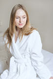 Spa Woman. Beautiful Girl After Bath . Perfect Skin. Skincare. Young Skin Royalty Free Stock Photos