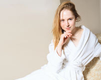 Spa Woman. Beautiful Girl After Bath Perfect Skin. Skincare. Young Skin Stock Photos