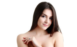 Spa Woman. Beautiful Girl. Perfect Skin. Skincare. Wellness adve Royalty Free Stock Photos