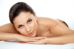 Spa Woman. Beautiful Woman Getting Spa Treatment. Stock Photos
