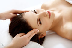 Spa Woman.Beautiful Woman Getting Spa Treatment. Stock Photos