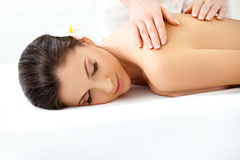 Spa Woman. Beautiful Woman Getting Spa Treatment. Stock Image
