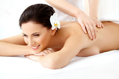 Spa Woman. Beautiful Woman Getting Spa Treatment. Royalty Free Stock Images