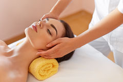 Spa Woman. Beautiful Young Woman Getting a Face Treatment at Bea Stock Photos