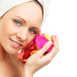 Spa woman - beauty face Stock Photo