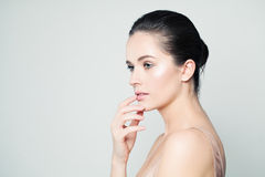 Spa Woman. Beauty Face. Healthy Skin Royalty Free Stock Photography