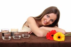 Spa Woman.Beauty Treatments. Spa Young Woman. Beauty Treatments Royalty Free Stock Photo