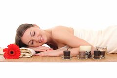 Spa Woman.Beauty Treatments. Spa Young Woman. Beauty Treatments Royalty Free Stock Photography