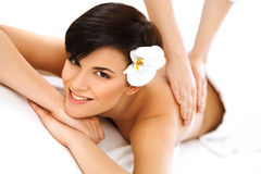 Spa Woman. Close-up of a Beautiful Woman Getting Spa Treatment. Stock Photography