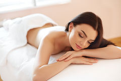 Spa Woman. Close-up of a Beautiful Woman Getting Spa Treatment. Stock Image