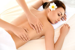 Spa Woman. Close-up of a Beautiful Woman Getting Spa Treatment. Royalty Free Stock Images