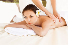 Spa Woman. Close-up of a Beautiful Woman Getting Spa Treatment. Royalty Free Stock Photo