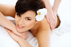 Spa Woman. Close-up of a Beautiful Woman Getting Spa Treatment. Stock Photos