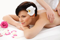 Spa Woman. Close-up of a Beautiful Woman Getting Spa Treatment. Stock Images