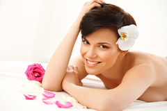 Spa Woman. Close-up of a Beautiful Woman Getting Spa Treatment S Stock Photography
