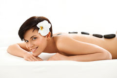 Spa Woman. Close-up of a Beautiful Woman Getting Treatment Royalty Free Stock Photo
