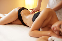 Spa Woman. Close-up of a Woman Getting Spa Treatment. Body Massa Royalty Free Stock Images
