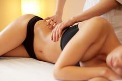 Spa Woman. Close-up of a Woman Getting Spa Treatment. Body Massa Stock Image