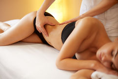 Spa Woman. Close-up of a Woman Getting Spa Treatment. Body Massa Stock Photos