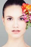 Spa Woman, Cute Face, Perfect Skin. Skincare Concept Stock Photo