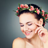 Spa Woman Fashion Model Smiling. Stock Image