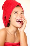Spa woman happy Stock Image