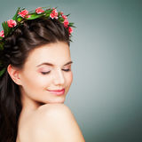 Spa Woman with Healthy Fresh Skin. Royalty Free Stock Image