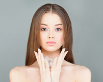 Spa Woman holding Ice Cubes Royalty Free Stock Photo