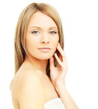 Spa woman isolated Royalty Free Stock Image