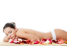 Spa Woman Isolated On White Royalty Free Stock Photos