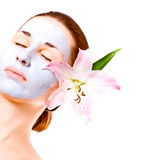 Spa woman with lilly Royalty Free Stock Photo