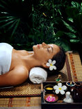 Spa and woman Stock Photo