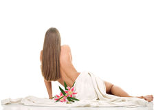 Spa woman relaxing Royalty Free Stock Images